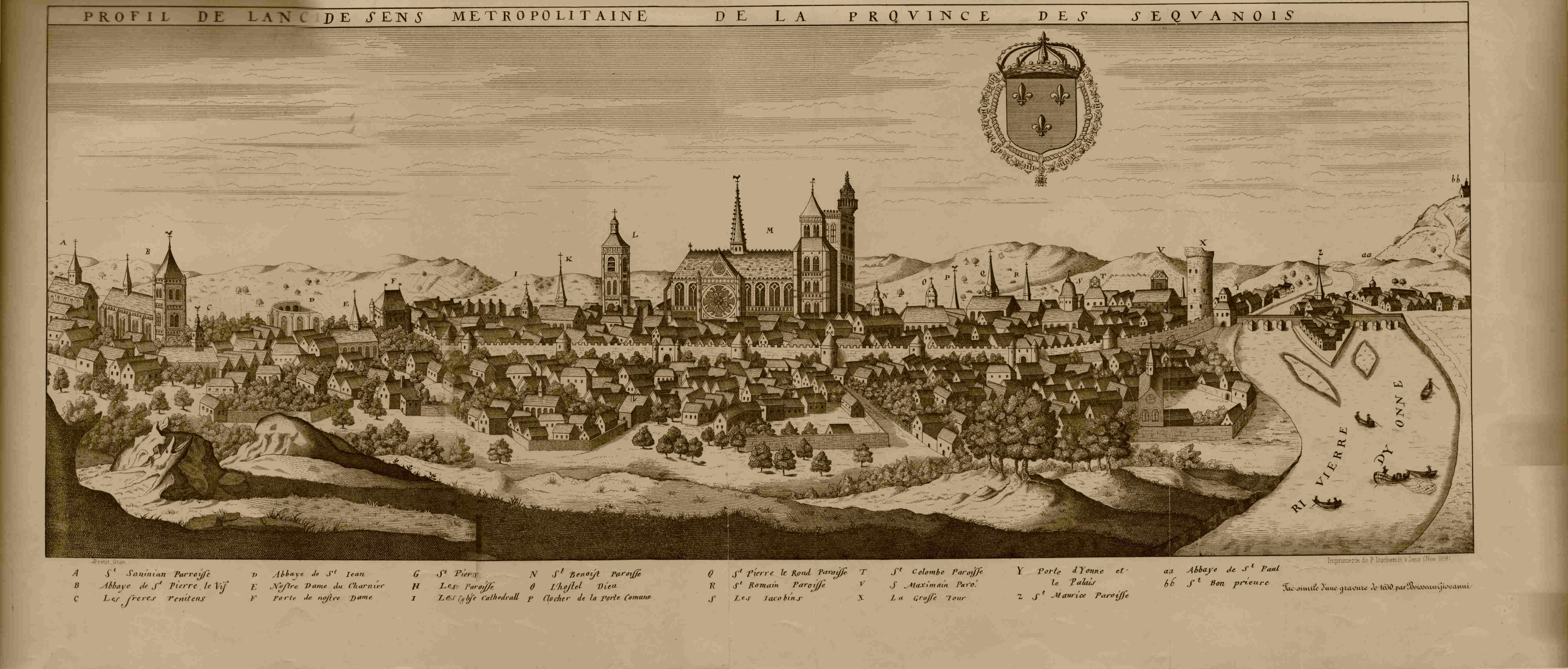 Sens une ville qui se christianise for Plan de sens dans l yonne