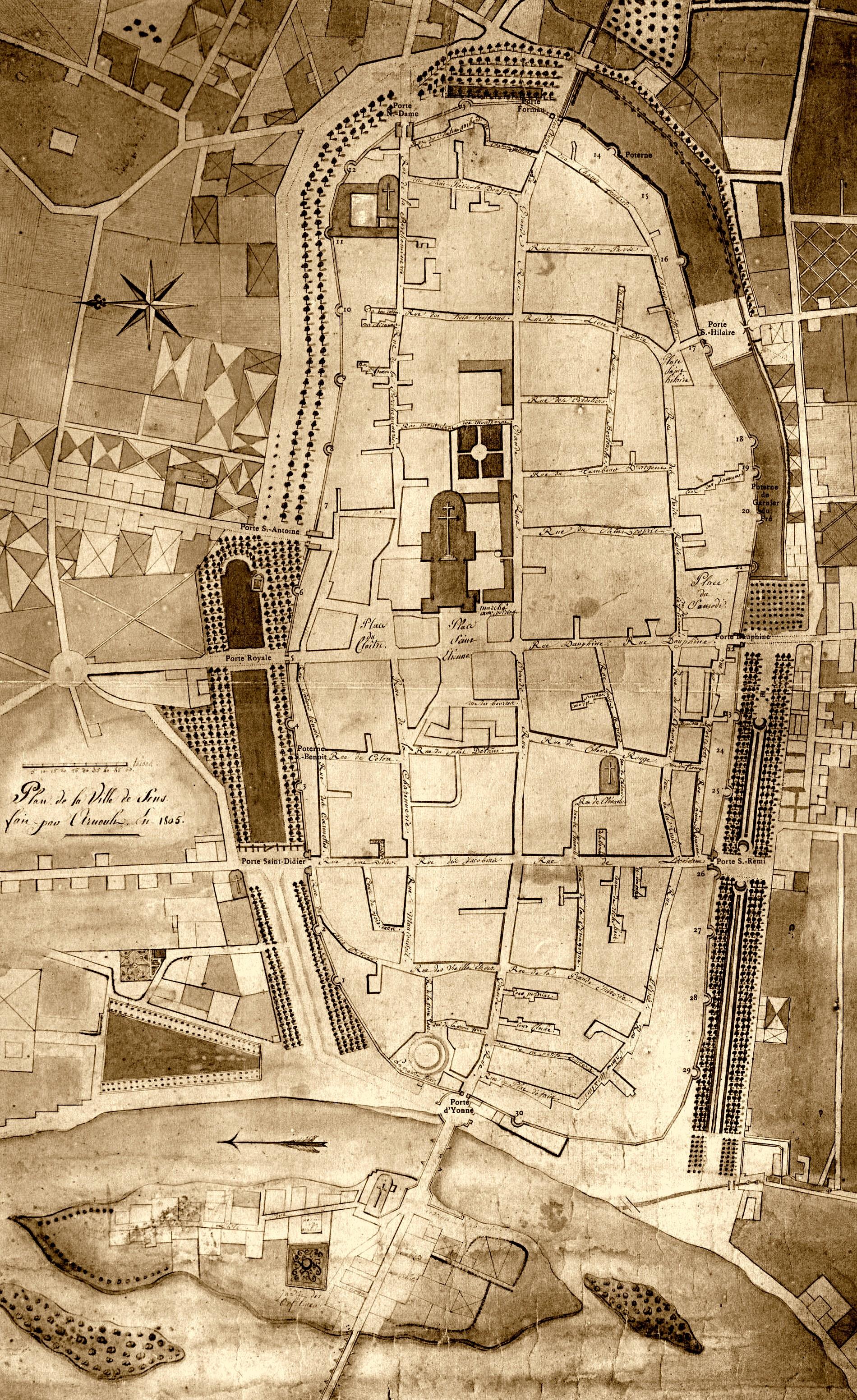 Des lieux et de hommes quand sens tait une ville fortifi e for Plan de sens dans l yonne