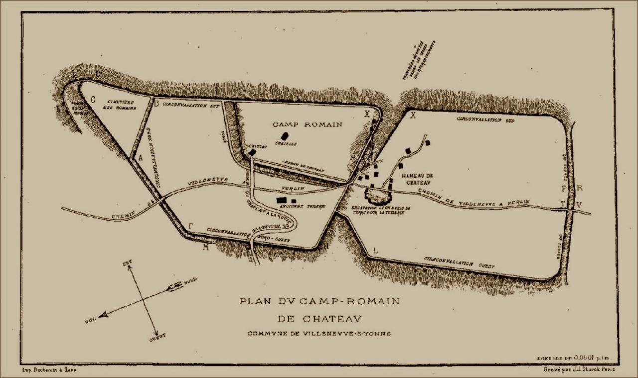 53 avant j c 6 l gions romaines hivernent pr s d for Plan de sens dans l yonne