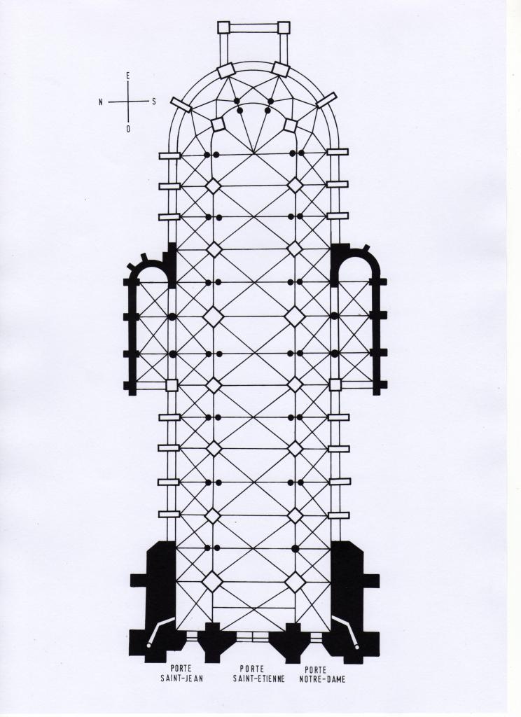 La cath drale st etienne les origines for Plan de sens dans l yonne