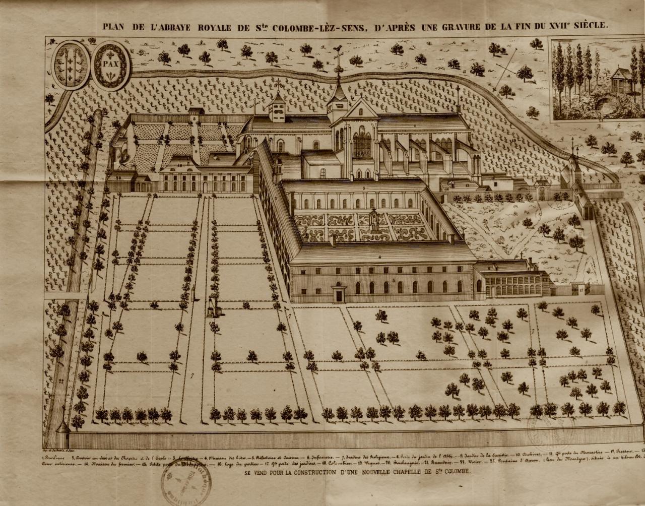 Les lieux de culte et difices religieux de saint denis for Plan de sens dans l yonne