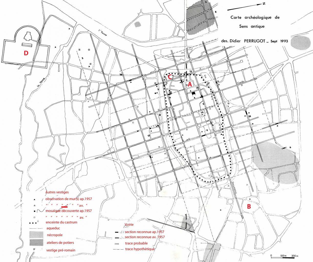 Histoire de sens ville d 39 yonne for Plan de sens dans l yonne