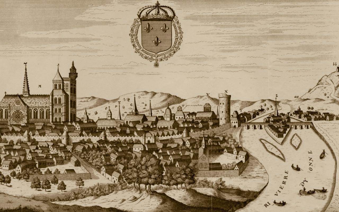 La porte d 39 yonne louis xiv sens en 1658 en 1683 for Plan de sens dans l yonne